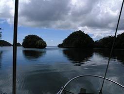 Palau, Ocean Hunter I, Hafenausfahrt