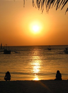 Sonnenuntergang am White Beach, Boracay 2001)