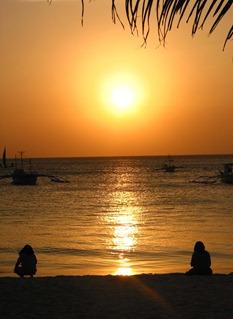 Sonnenuntergang am White Beach, Boracay 2001)