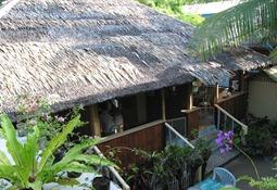 Aussicht in den Innenhof von meinem Balkon aus, Boracay 2001