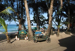 Tricycles am White Beach, Boracay 2001